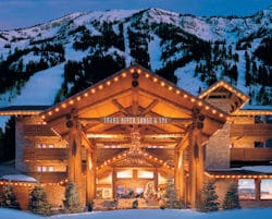 Snake River Lodge Exterior in the Winter