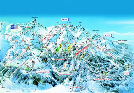 Meribel ski map